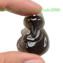 Free shipping - Natural black Obsidian gemstone , ICE black Obsidian charm good  - $23.99