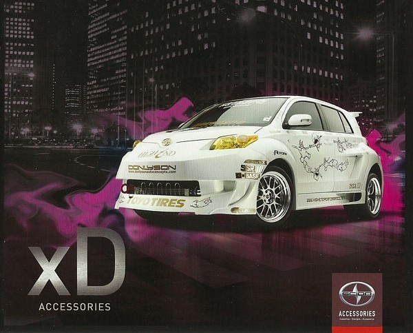 Primary image for 2009 Scion xD parts accessories brochure catalog Toyota TRD