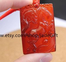 Free Shipping - Red jade Horse luck Pendant - $19.99