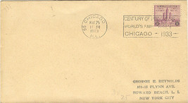 Century of Progress First Day Cover May 25, 1933 Worlds Fair - $4.00