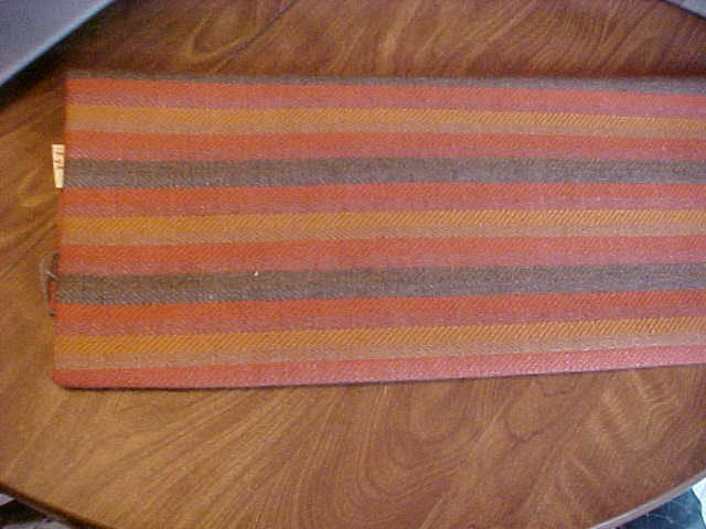 1 yard Striped Herringbone Look Earth Tones Upholstery Fabri Bonanza