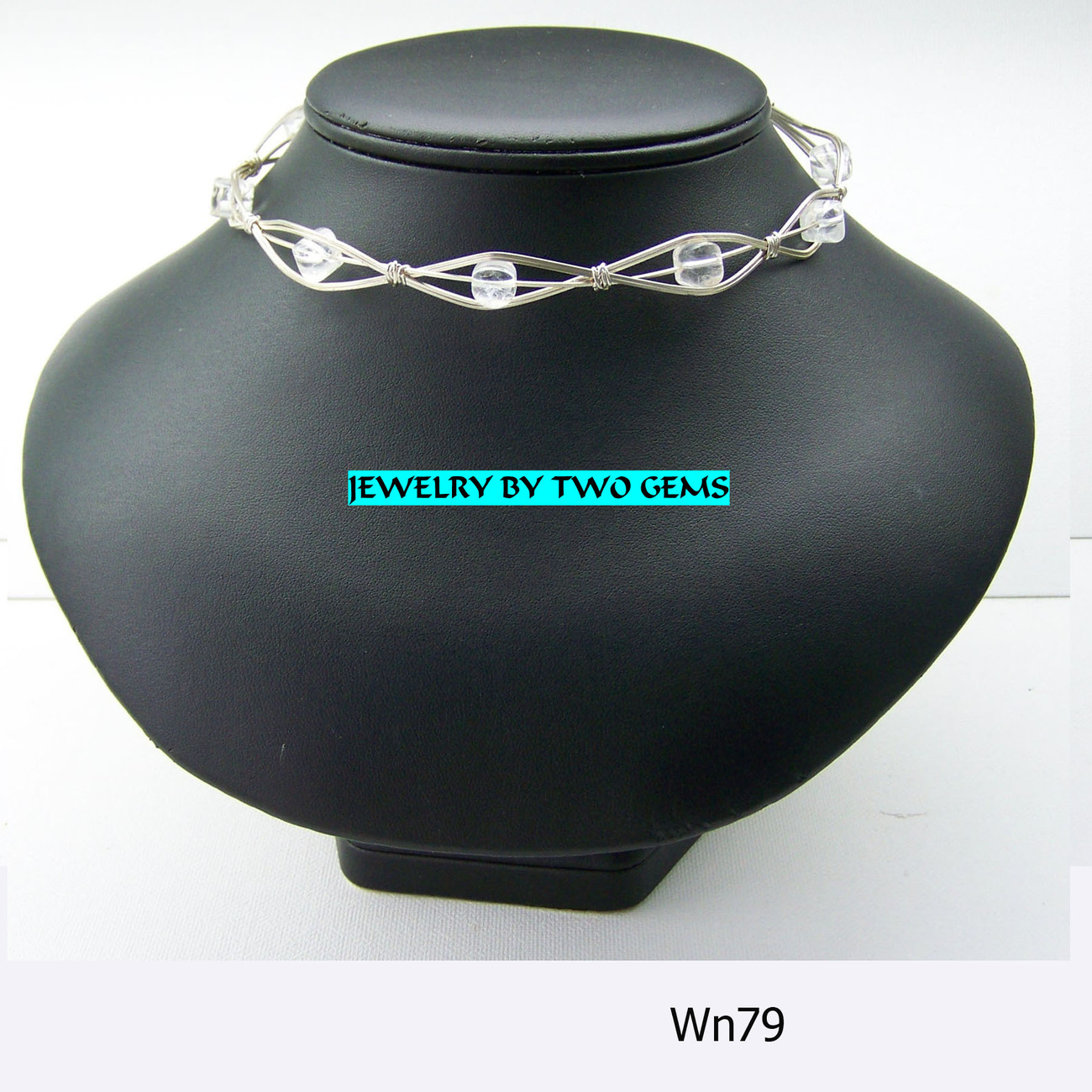 Jewelry By Two Gems Sterling Silver Crystal Quartz Collar
