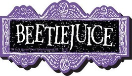 Beetlejuice Movie Name Logo Chunky 3-D Die-Cut Magnet, NEW UNUSED - $5.94