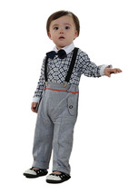 StylesILove Infant Toddler Baby Boy Plaid Shirt, Suspender and Pant 3-piece - $17.99