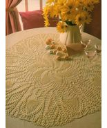 6X Oval Pineapple Doily Floral Pillow Whirl Table Centerpiece Crochet Pa... - $8.99