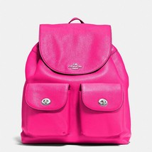 NWT Coach Billie Fuchsia Pink Leather Backpack Bag New 37410  ($395) - $195.00