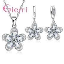 Fashion Charm Colorful Wedding Jewelry Set 925 Sterling Silver Bijoux For Women  - $14.06