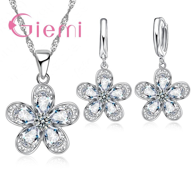 Primary image for Fashion Charm Colorful Wedding Jewelry Set 925 Sterling Silver Bijoux For Women