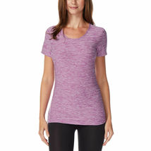 32 Degrees Women's 2Pk Short Sleeve Scoop Neck T-Shirt Orchid/Black Size: Small image 4