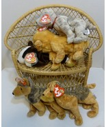 TY Beanie Babies Lot of Five (5) DOG Beanies - Whiskers, Sarge, Tricks +... - $28.98