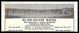 Hi Ho Silver Motel Ad Atlantic City New Jersey 1954 Roadside Photo Ad Tr... - $10.99