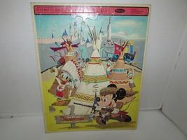 Vintage Disneyland Frontierland Puzzle en Plateau #4505 Whitman 11 X 14 1965 - $4.77