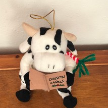 Gently Used Kurt S. Adler Black & White COW Singing Christmas Carols Plu... - $8.59
