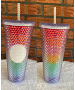 Rainbow Starbucks Pride 2020 Limited Edition Studded Cold Cup Tumbler St... - $73.50