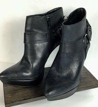 Jessica Simpson Vinata 10M Ankle Bootie Platform Stiletto Heels Chains Side Zip  image 10