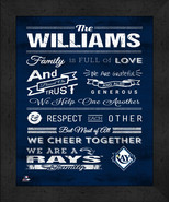 """Tampa Bay Rays """"Family Cheer"""" 13 x 16 Framed Print - $39.95"""