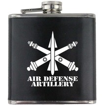 Air Defense Artillery ADA Branch Army Veteran Groomsman Gift Leather Flask - $19.79