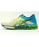 Asics Gel Quantum 180 Womens 6 Running Shoes White Lime Blue T5J7N Train... - $28.84