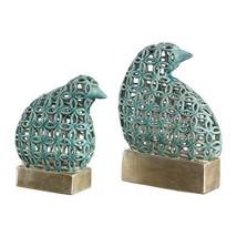 Uttermost 2-Pc Pierced Ceramic Bird Figurines Bird Sculptures - $195.80