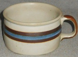MID CENTURY Otagiri Stoneware HORIZON PATTERN 15 oz Soup Mug MADE IN JAPAN - $14.25