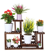 Pine Wood Plant Stand Indoor Outdoor Multiple Flower Pot Holder Shelf Rack - $66.37