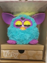 2012 Furby Teal/Blue/Purple Interactive Educational Learning Toy Yellow Mohawk - $22.29