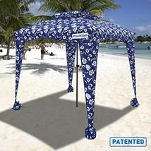 Portable Sports Cabana Blue Flowers Beach Umbrella Waterproof Travel Fri... - $99.97