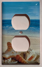 Ocean beach Seashell Light Switch Power Outlet wall Cover Plate Home Decor image 4