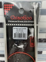"Chiao Goo Size 8 - 24""(60cm) Stainless Steel RED LACE CIRCULAR KNITTING ... - $14.80"
