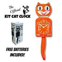 "Potiron Delight Femme Kit Chat Horloge 15.5 "" Orange Gratuit Batterie Fa... - £49.37 GBP"