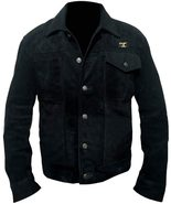 Men Rip Wheeler Yellowstone Cowboy Cole Hauser Black Jacket Suede Leather/Cotton - $65.00 - $118.00