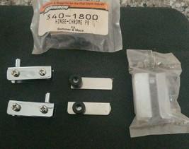 Glass Door Pivot Hinge Stainless Steel Cabinet Pair Set 2 Clamp 1/4 Door... - $9.99