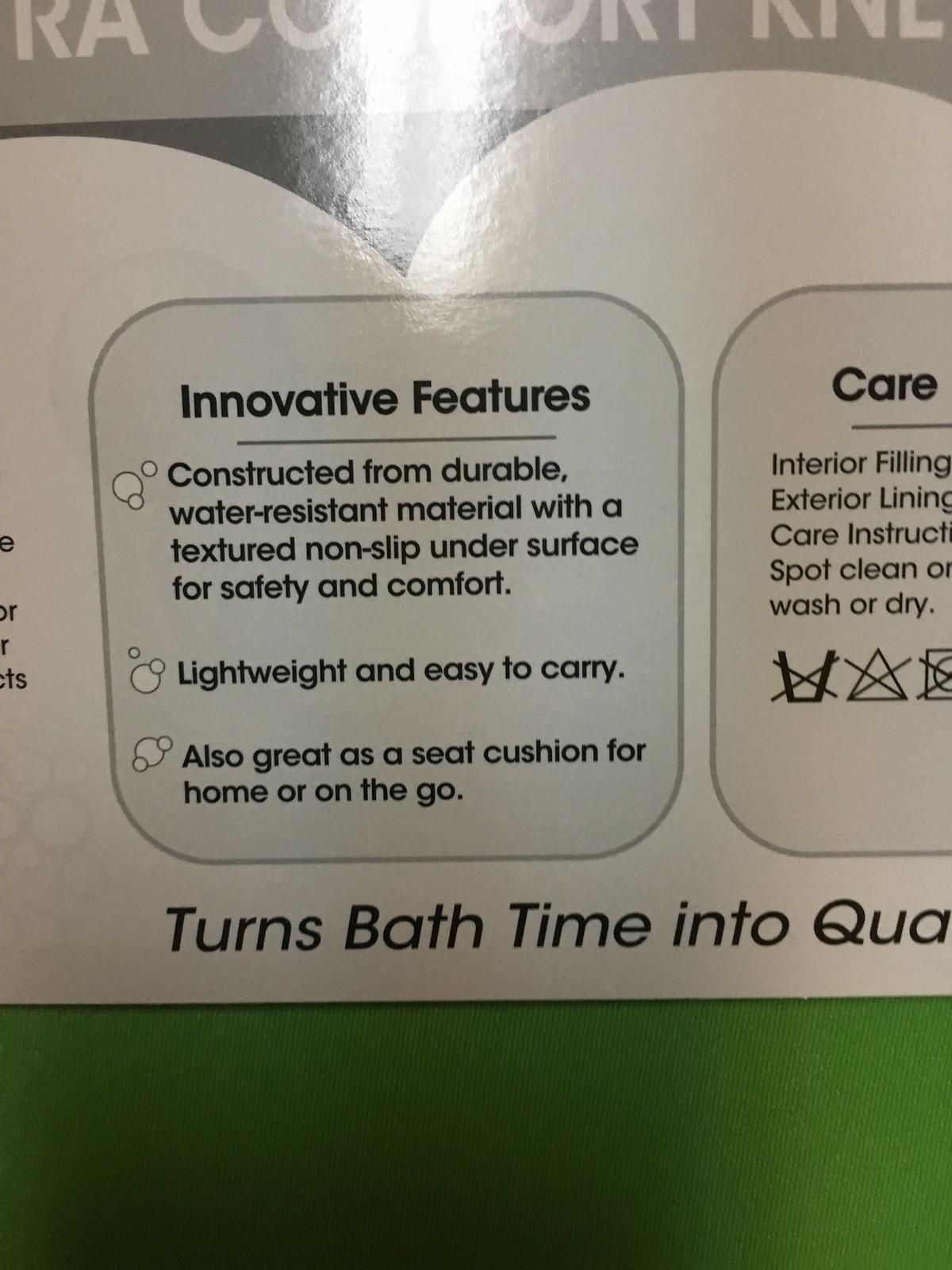 "Magic Coat Dog Bath Kneeling Pad Cushion 18"" x 16"" Green & Blue"