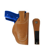New Barsony Tan Leather 360Carry 12 Option OWB IWB Holster Compact 9mm 4... - $64.99