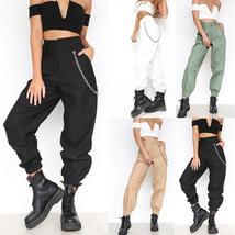 Women's Cargo Pants Casual Cotton Tough Durable Ladies Cargo Trousers