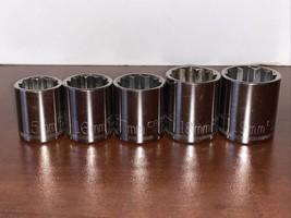 Craftsman 3/8 Drive 12 Point (5) Sockets Lot 15 16 17 18 19 Mm G Series - $15.00