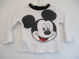 Disney Boy's Size 3T White Mickey Mouse Long Sleeve Waffle Knit Thermal Shirt - $20.80
