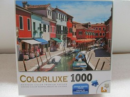 Colorluxe Puzzles Colorful Boats Homes Lining Canal Venice 1000 Pc Jigsa... - $10.39