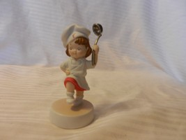 2003 Campbell's Soup Collectible Porcelain Girl Figurine Chef Holding Ladle - $29.69