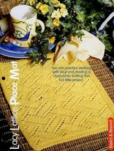 Lacy Lattice Place Mat Knitting PATTERN/INSTRUCTIONS Leaflet New - $1.77