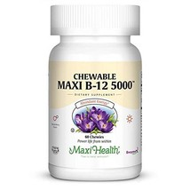 Maxi Health Chewable Vitamin B-12 - 5000 mcg - Energy Booster - Berry Fl... - $23.27