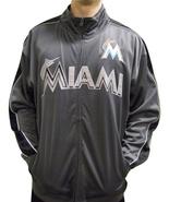 MLB Miami Marlins Men's Big & Tall Full Zip Tricot Reflective Track Jacket - $34.95+