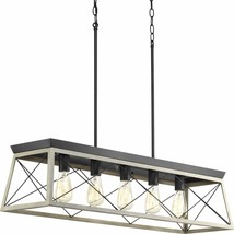 Briarwood Collection Whitewashed Five-Light Farmhouse Linear Chandelier ... - $235.92