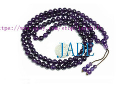 Free Shipping - NATURAL Amethyst  108 Meditation Yoga Prayer Beads Mala - jade20 - $26.99