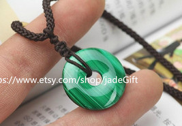 FREE SHIPPING - green gift Natural Malachite carved Peace buckle bring for you l - $28.99