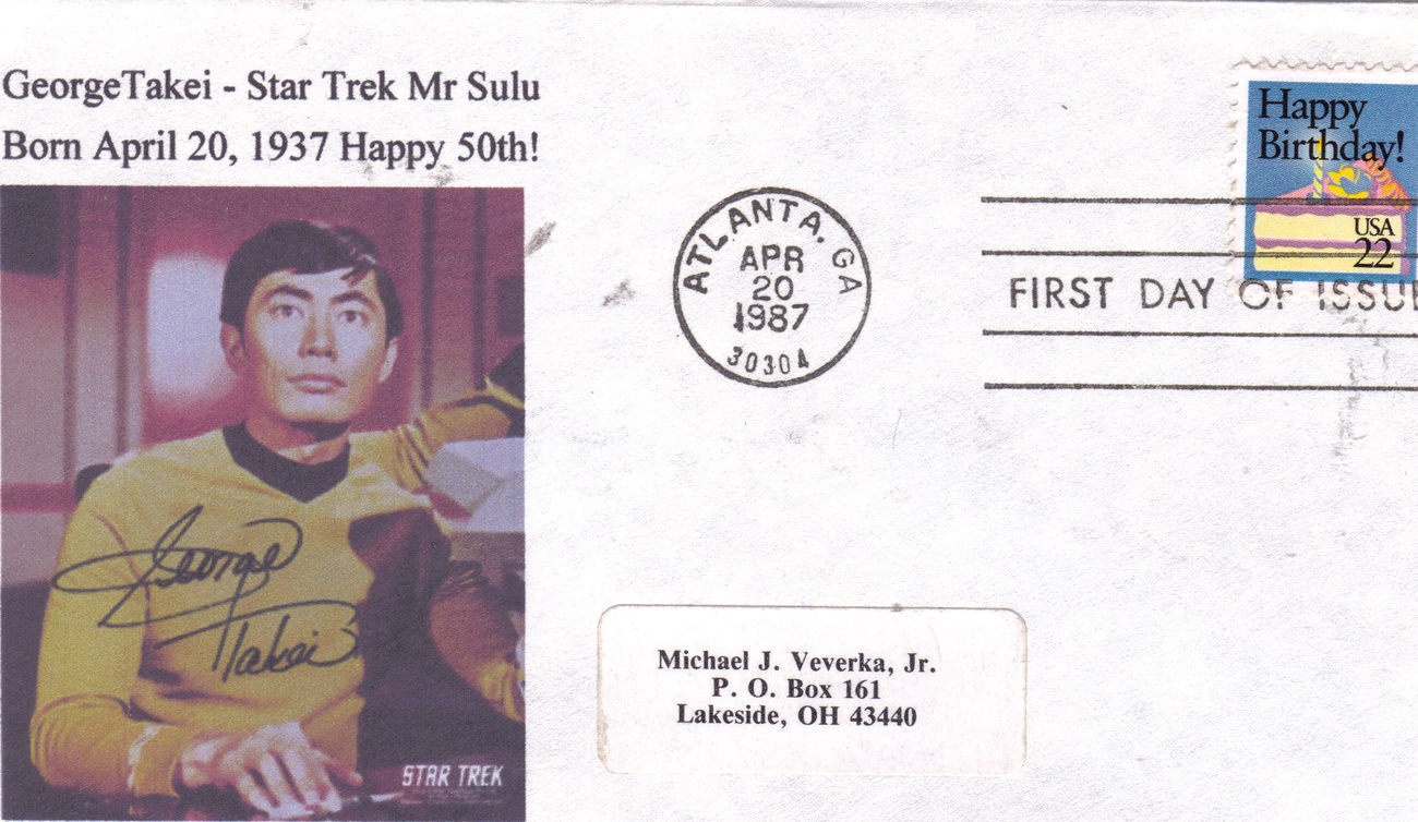 Primary image for GEORGE TAKEI - STAR TREK Happy 50th First Day Cover