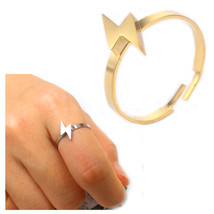ring lightning Natural personality style stainless steel ring set rings ... - $10.44