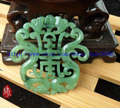Free Shipping -  green jadeite jade carved best Blessing pendant charm Pendant   - $18.99