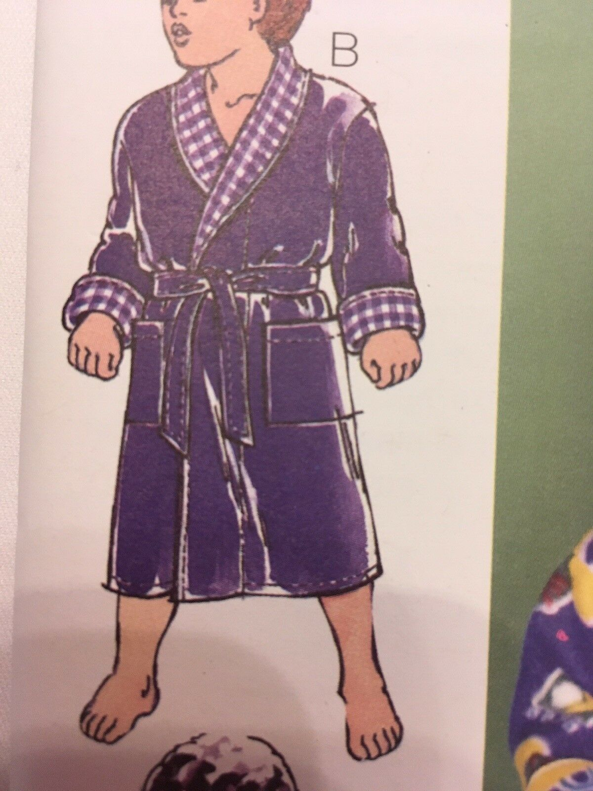 Kwik Sew 2654 Wrap Robes Children Boy Girl Sewing Pattern Size XS-XL Uncut image 4