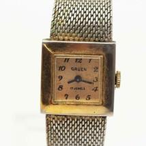 Vintage Gruen Mechanical Wind Ladies Wristwatch Watch - $19.79